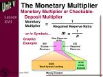 the monetary multiplier