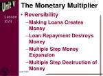 the monetary multiplier1