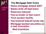 the mortgage debt crisis
