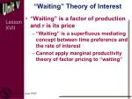 waiting theory of interest