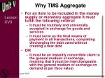 why tms aggregate