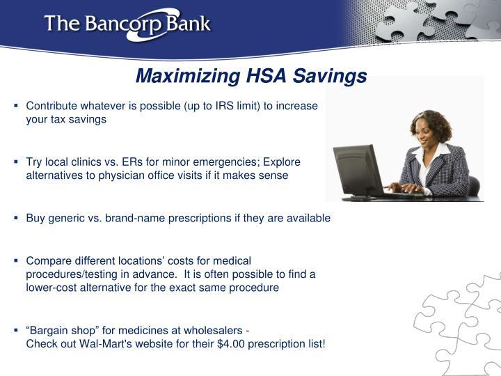 Maximizing HSA Savings