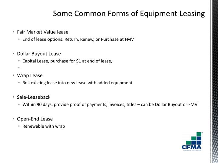 Fair Market Value lease