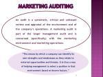 marketing auditing