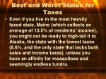 best and worst states for taxes