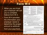 form w 4