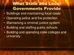 what state and local governments provide