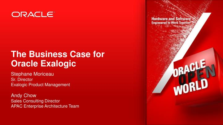 the business case for oracle exalogic n.