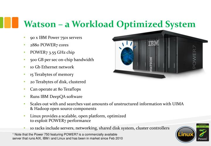 Watson – a Workload Optimized System