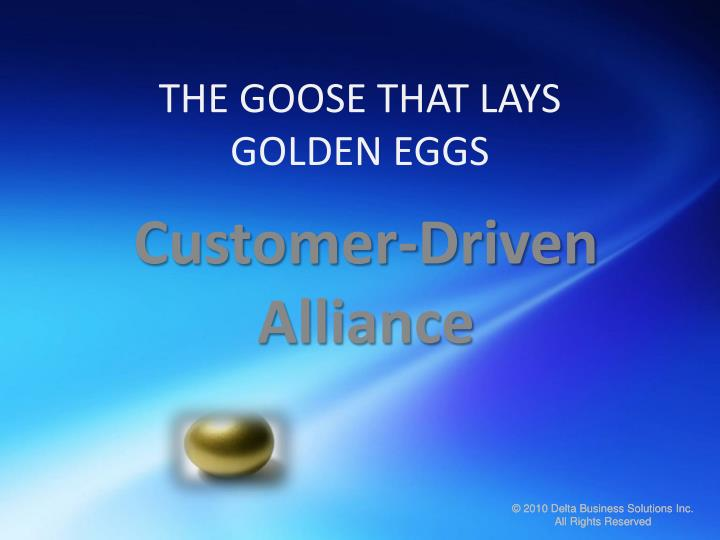 the goose that lays golden eggs n.