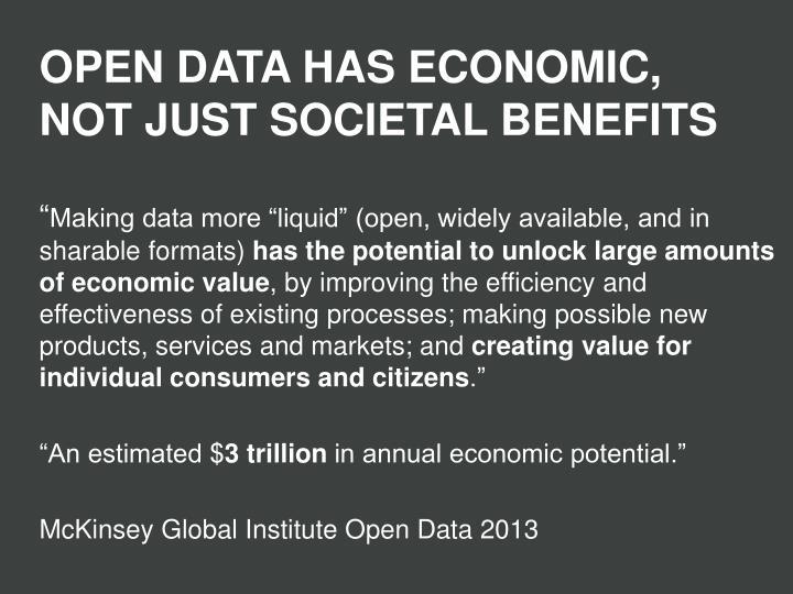 OPEN DATA HAS ECONOMIC,