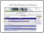 cch tax research network