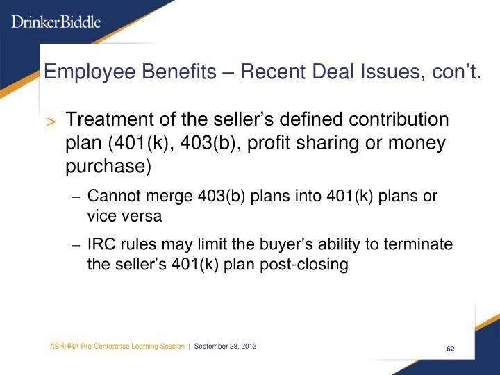 Employee Benefits – Recent Deal