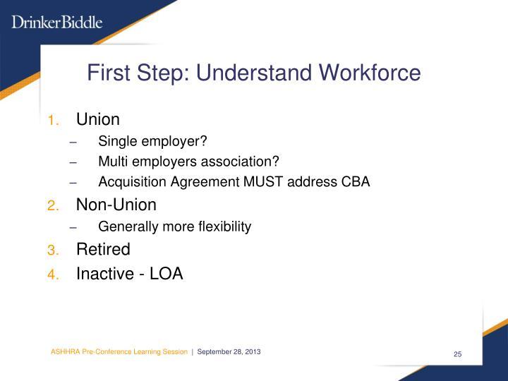 First Step: Understand Workforce
