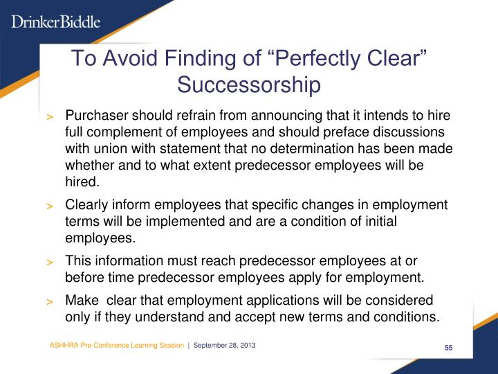 """To Avoid Finding of """"Perfectly Clear"""""""