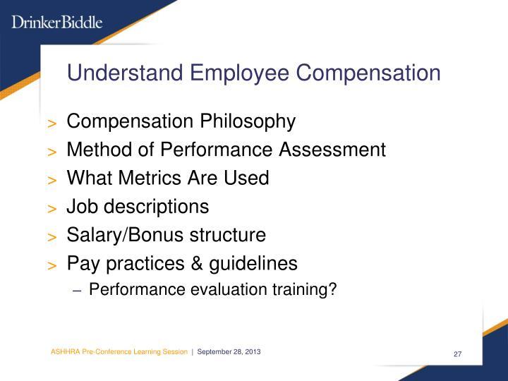Understand Employee Compensation