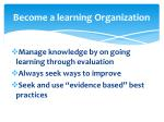 become a learning organization