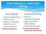 crime fighting vs community policing