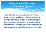 from jack maples book the crime f ighter