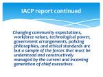 iacp report continued