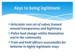 keys to being legitimate
