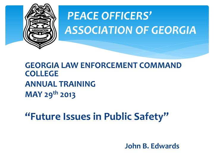 peace officers a association of georgia n.