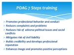 poag 7 steps training