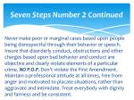 seven steps number 2 continued