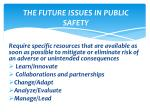 the future issues in public safety