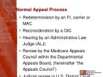normal appeal process