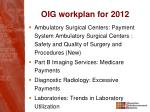 oig workplan for 20122