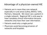 advantage of a physician owned hie