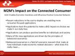 m2m s impact on the connected consumer