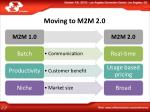 moving to m2m 2 0