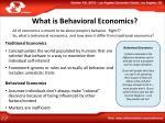 what is behavioral economics