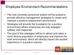 employee environment recommendations