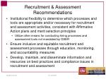 recruitment assessment recommendations