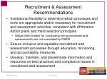 recruitment assessment recommendations