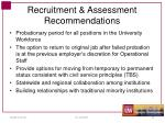 recruitment assessment recommendations1