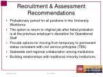 recruitment assessment recommendations1