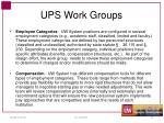 ups work groups