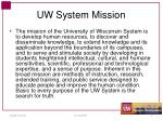 uw system mission