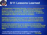 9 11 lessons learned
