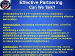 effective partnering