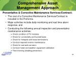 comprehensive asset management approach