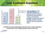 cost avoidance explained