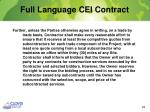 full language cei contract