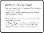 women in labor continued