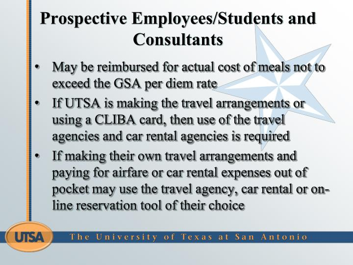 Prospective Employees/Students and Consultants