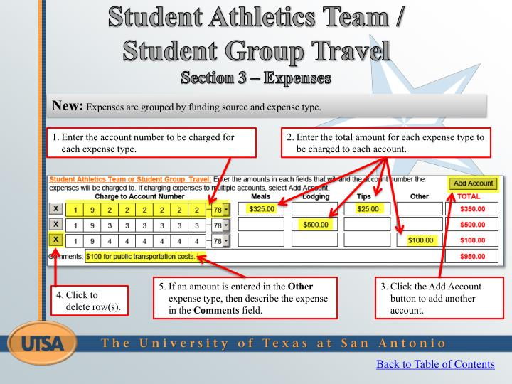 Student Athletics Team / Student Group Travel